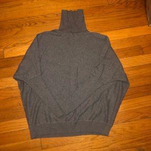 Gray long sleeve turtleneck sweater